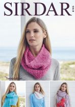 Sirdar Temptation - 8195 Accessories. Snoods, Wrist Warmers, & Scarves Knitting Pattern